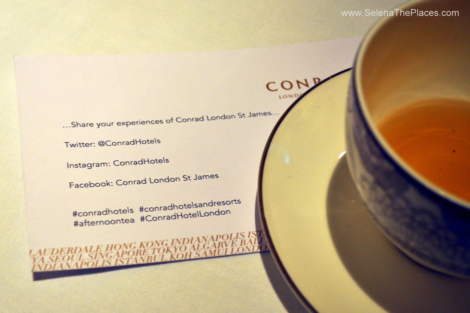 Conrad London St. James #LDNBloggersTea
