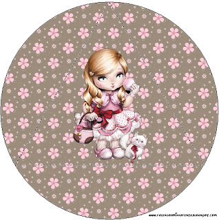 Jolie Dolls Free Printable Toppers.