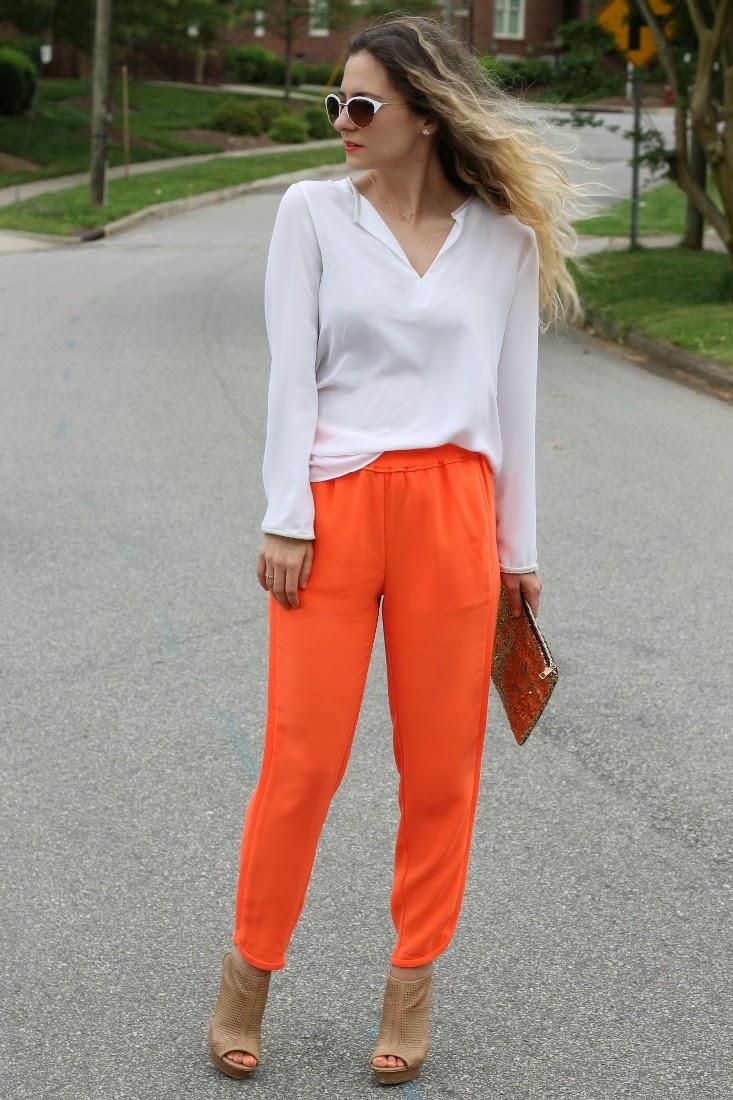 Neon Orange Jogger Pant