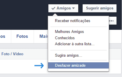 excluir amigo facebook