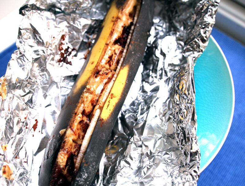 grilla banan til desert