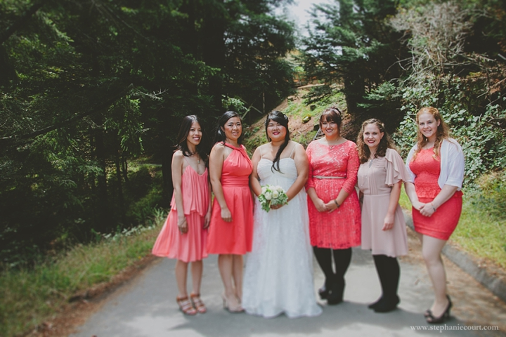 """""""bride and bridesmaids at Mountain Home Inn Mill Valley"""""""