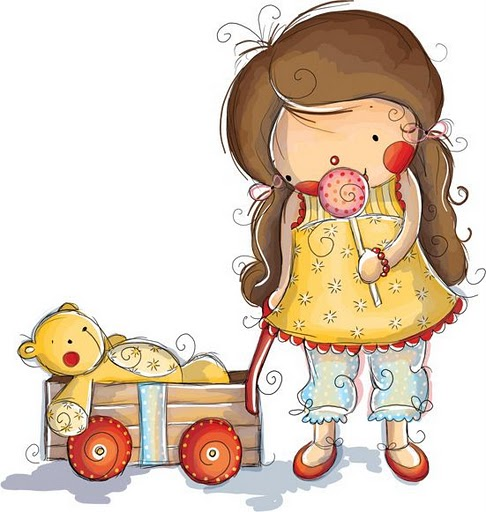 dibujos de niñas con sus muñecos - Imagenes y dibujos para ...