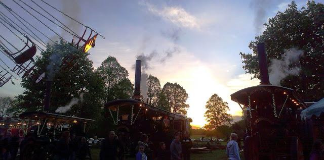 Sunset at Carters Steam Fair