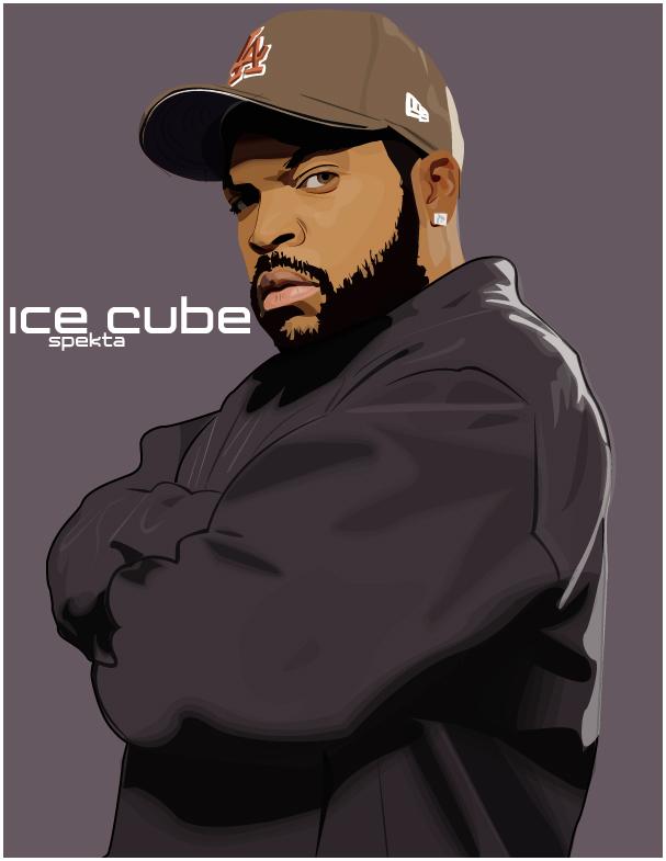 Ice Cube Rapper Wallpaper Ice cube biro portrait by