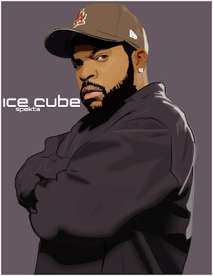 hip hop wall paper - illustrations wallpaper - ice cube drawings