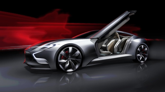 First Pictures of Hyundai HND-9 Seoul 2013 Luxury Sports Coupe Concept