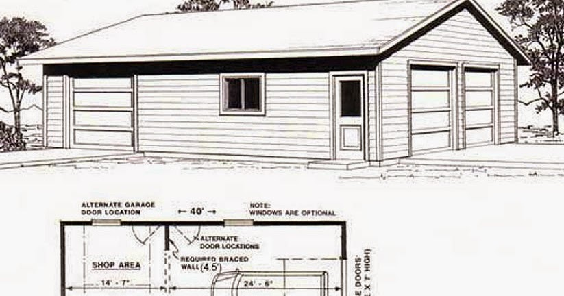 Garage plans blog behm design garage plan examples for 50 x 30 garage plans