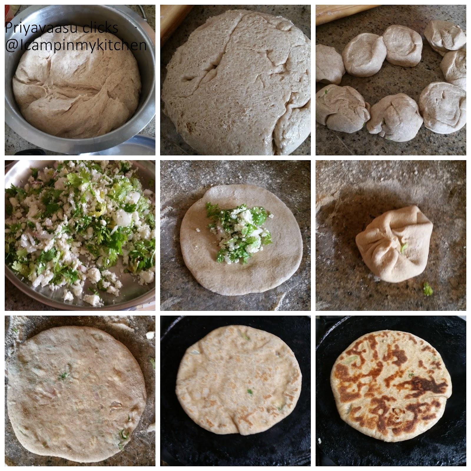 how to make stuffed paneer kulcha