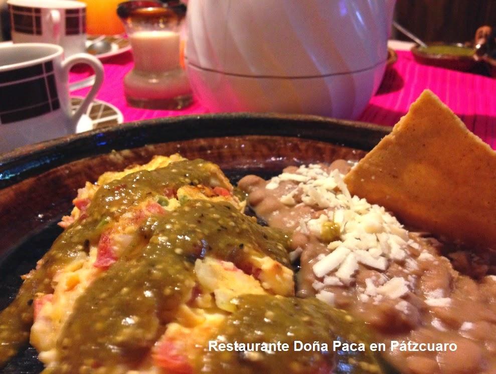 Desayunos en Pátzcuaro con buen sazón en Restaurante Doña Paca