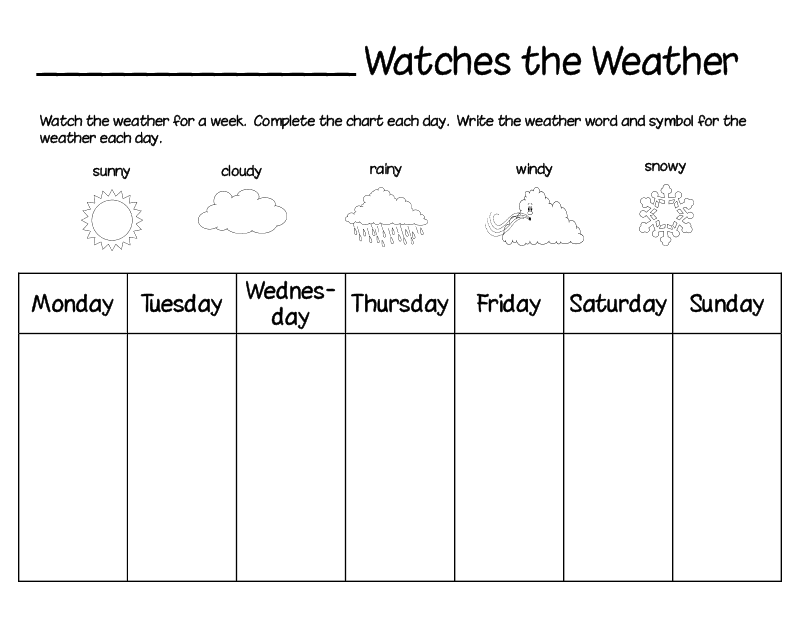 I Heart English Classes: Vocabulary 4 Kids: The Weather