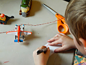 DIY Ornament idea with Planes vehicles #PlanesToTheRescue #ad