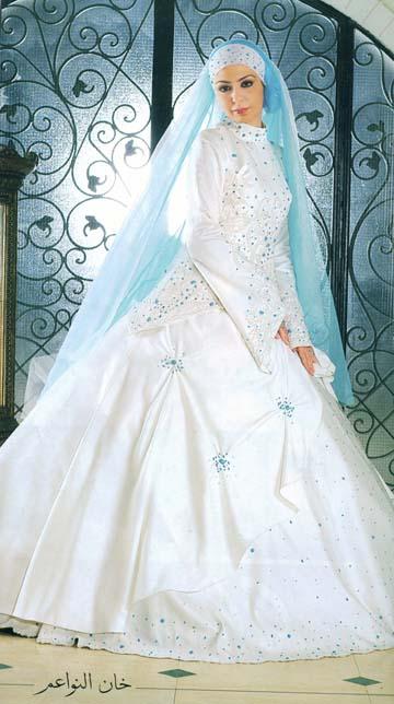 Robes de mariée pour femmes voilées en Tunisie