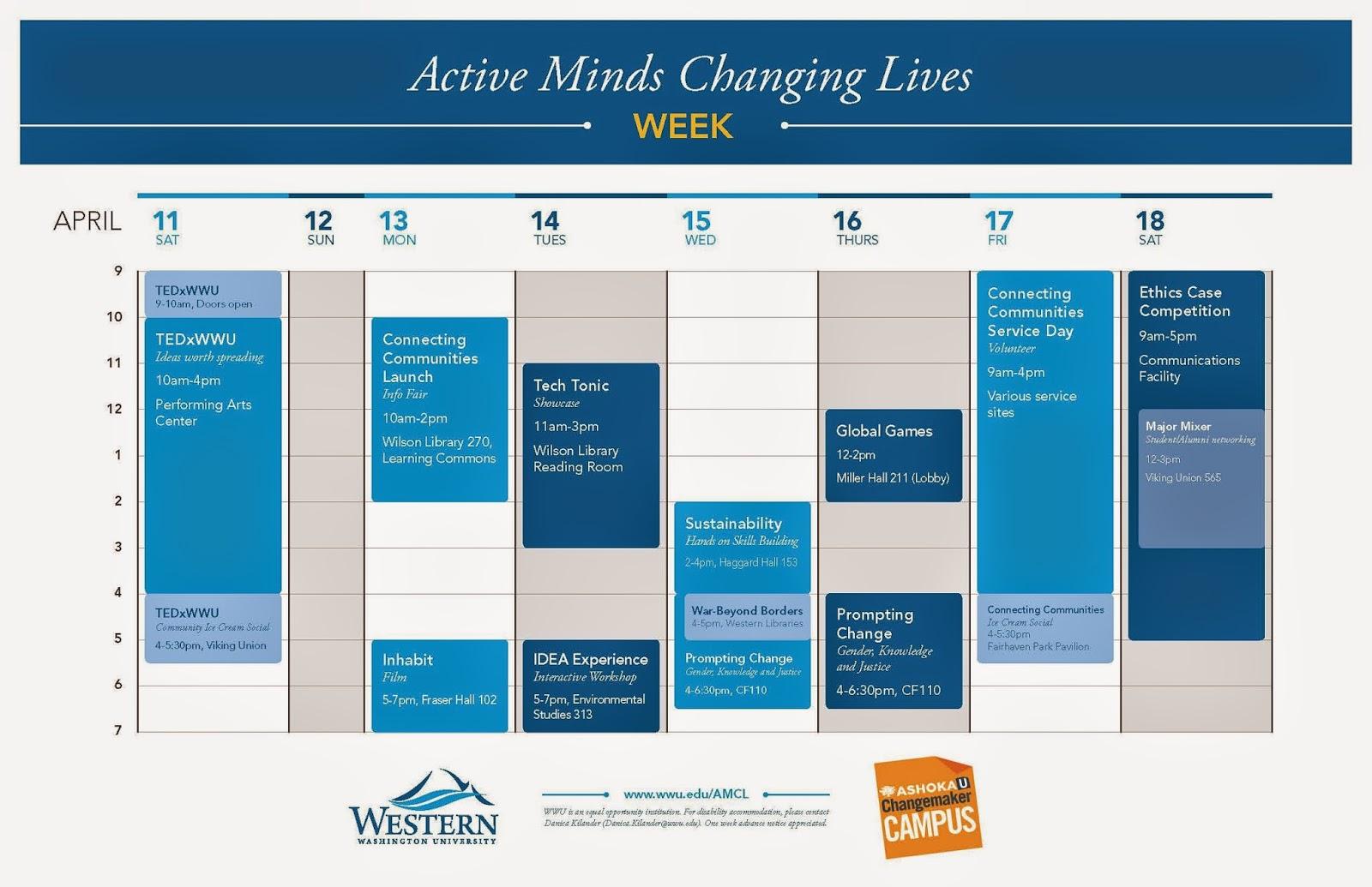 Active Minds Changing Lives Week @WWU