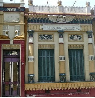 logia masonica, hijos del trabajo, fachada historica, barracas