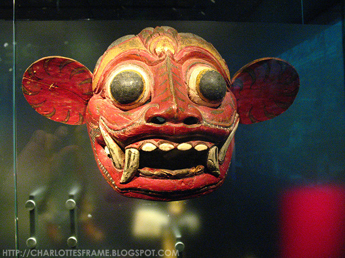 dance mask of a tiger head, Mask from Gianyar, Bali