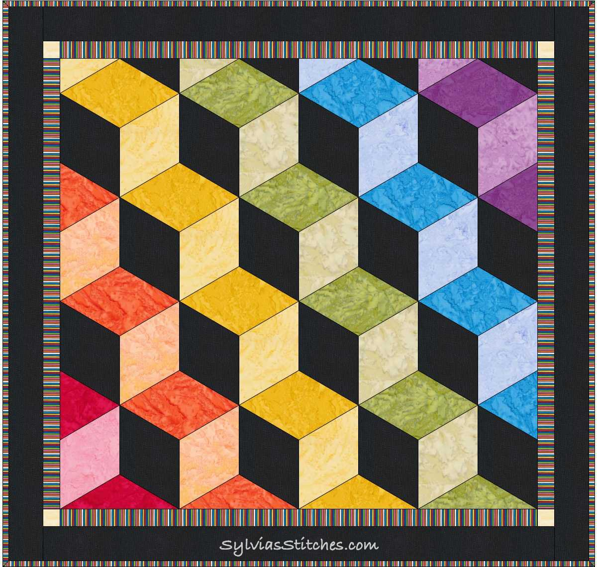 Free Quilt Block Design Program : EQ7 - Easy enough for a 12-year-old! - Sylvia s Stitches