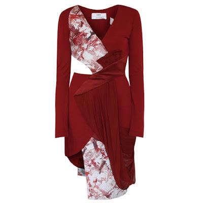prabal gurung cut out dress