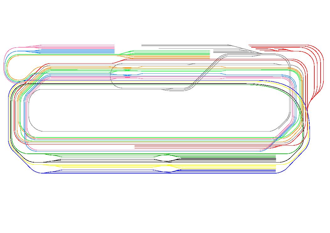 レトモの新しいレンタルレイアウトの全線図を表示しています。