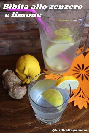 bibita allo zenzero e limone