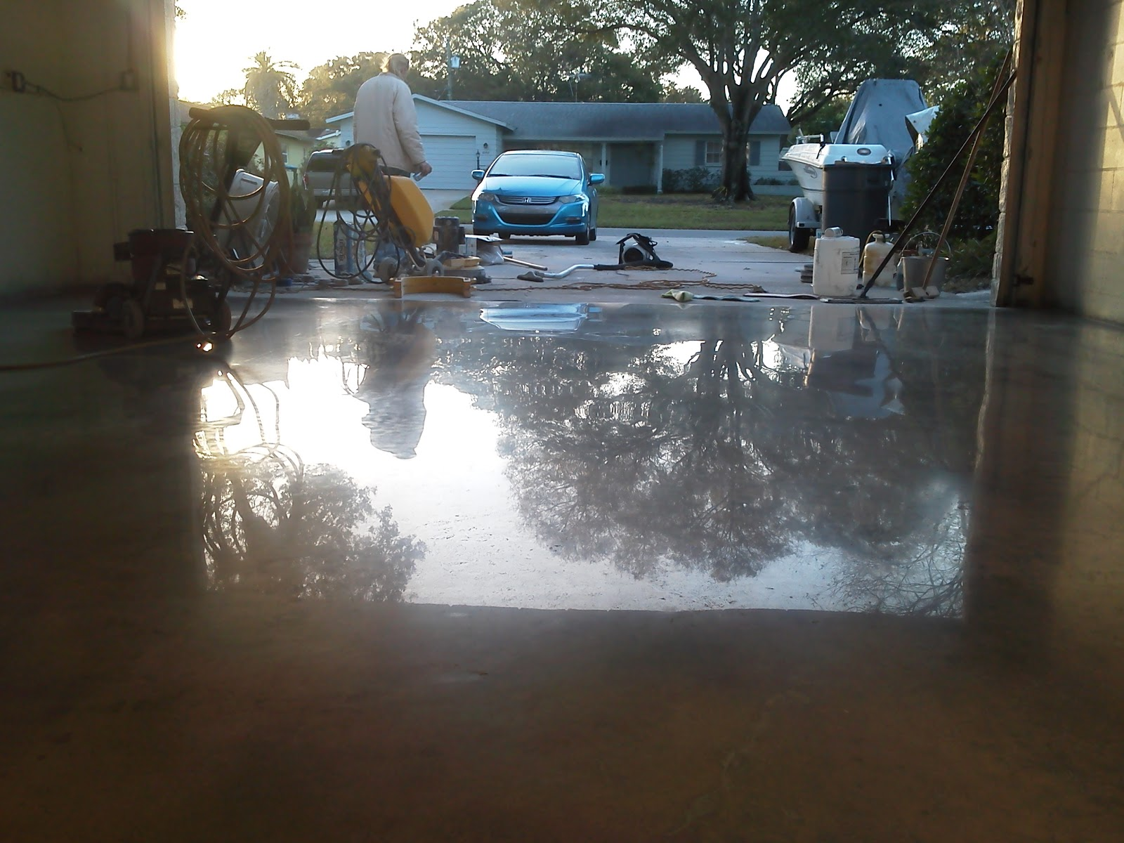 Tampa grout cleaning and floor cleaning experts st for What to clean concrete floors with