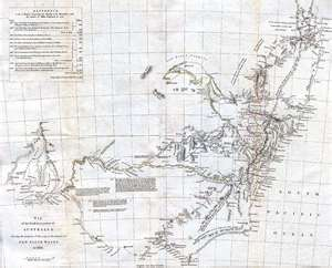 Mapa Histórico de Australia de 1832
