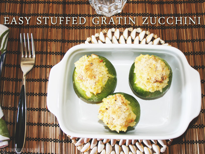 easy stuffed gratin zucchini