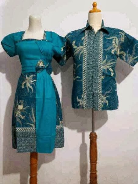 Model baju batik pramugari butik batik dan gamis modis Baju gamis batik hijau tosca