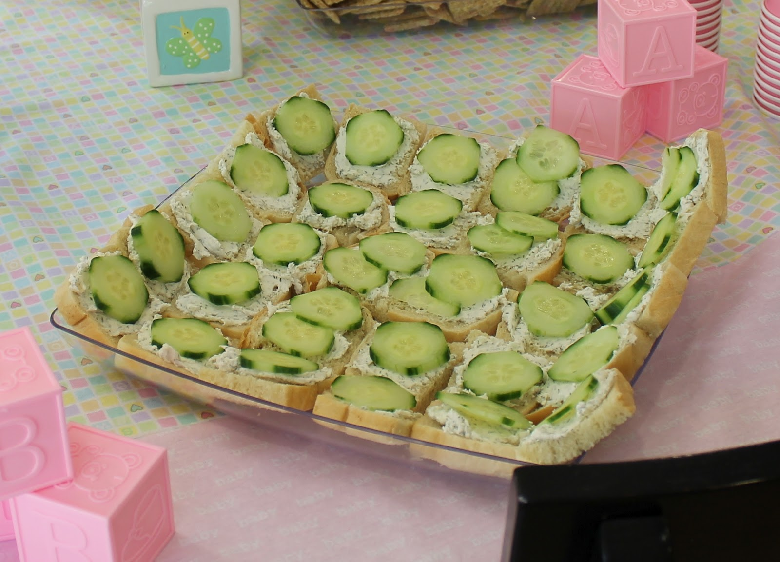 mcclanahan meals lia 39 s baby shower cucumber sandwiches