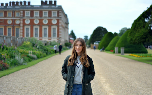 Catherine from Lux Life blog at Hampton Court Palace
