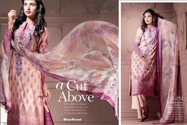 Gul Ahmed Chiffon Dress