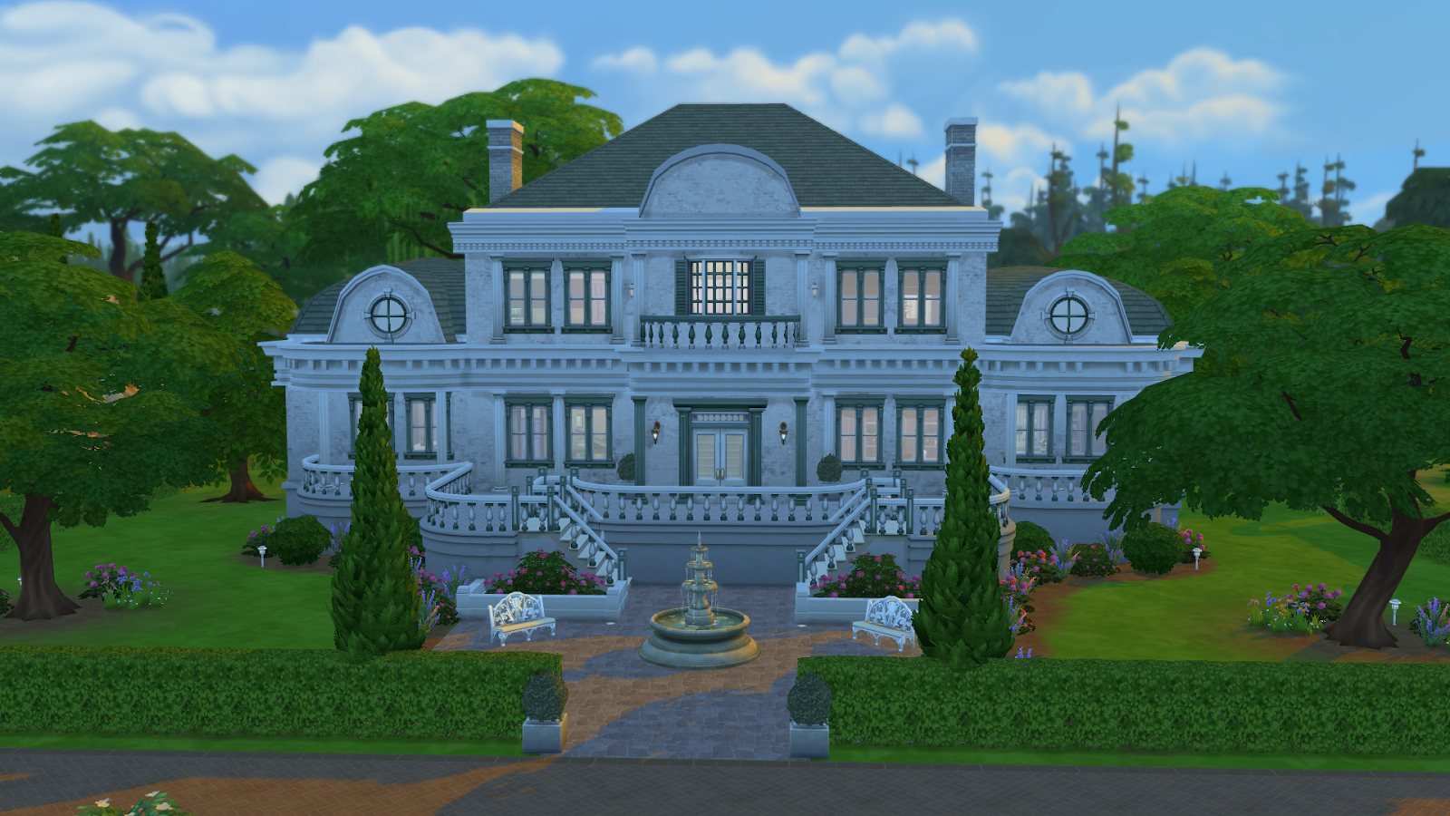 My sims 4 blog the bel aire mansion by ruth kay for Big modern house the sims 4