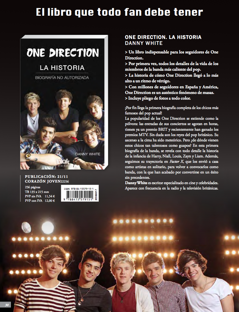 Nuevo libro en español: One Direction: La Historia.