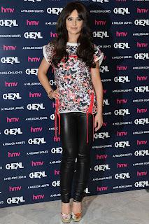 Cheryl Cole Tight Leather Leggings