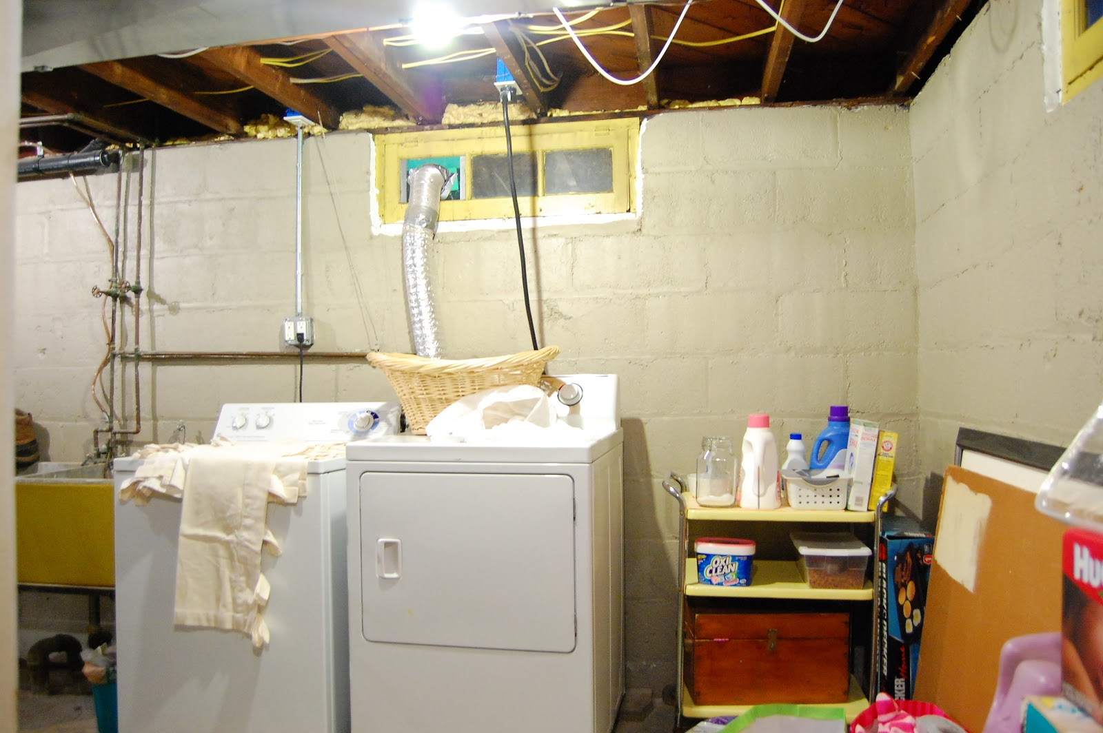 unfinished basement laundry room ideas my so called home the basement