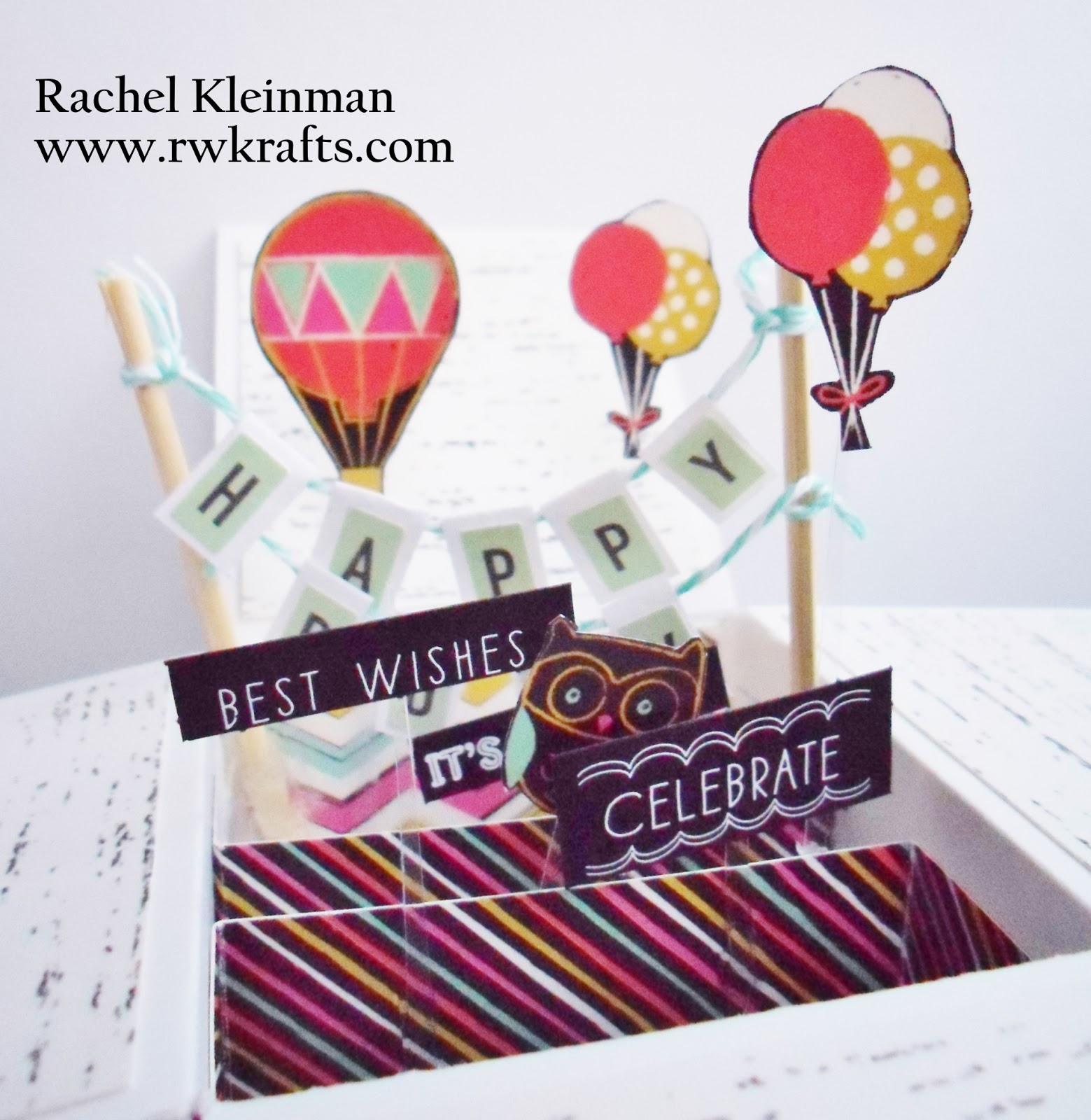 Rwkrafts Birthday Pop Box Card