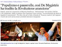 L'ex assessore Realfonzo: de Magistris ha tradito la rivoluzione arancione (luglio 2012)