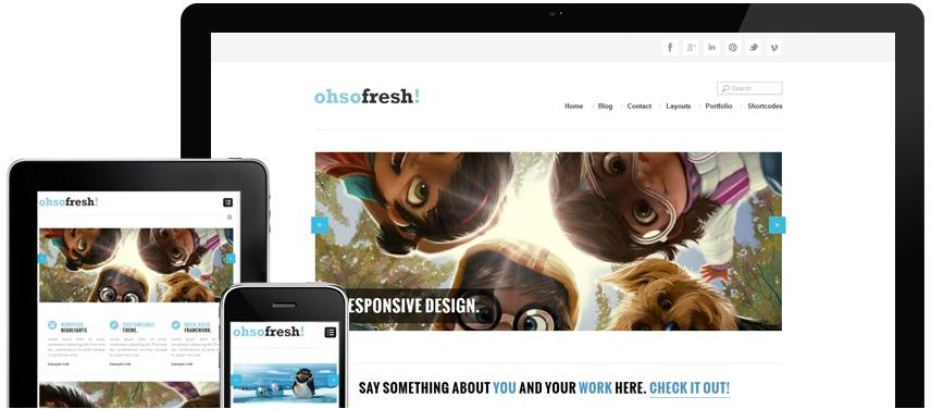 Theme OhSoFresh profesional para Wordpress Free Gratis