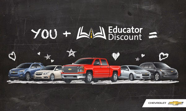 Hoselton Chevrolet Teacher Appreciation Discount Chalkboard, Rochester, NY