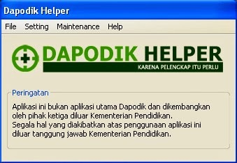 Backup Database Dapodik Terbaru dengan Dapodik Helper 2014