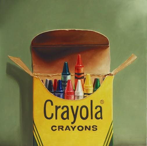crayola crayon painting, oil original still life realism jeanne vadeboncoeur