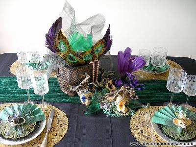 decoracion mesa carnaval 2013