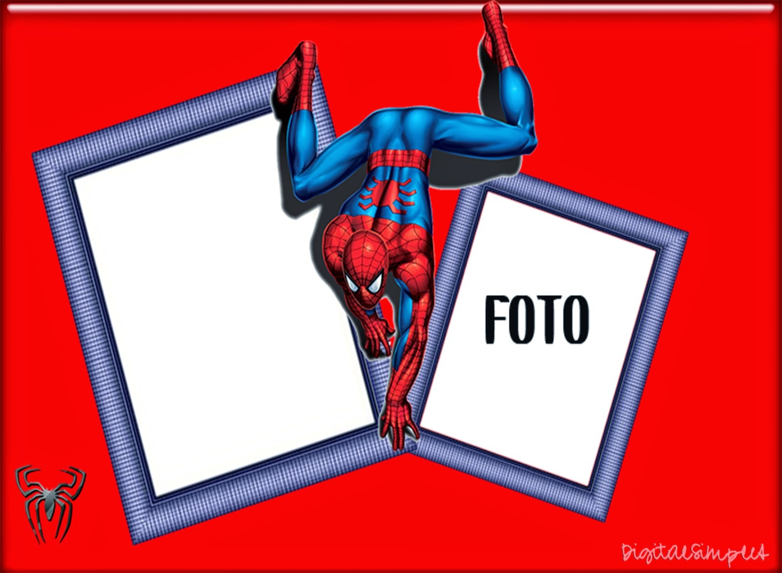 spiderman free printable invitations, cards or photo frames.  oh, Birthday card