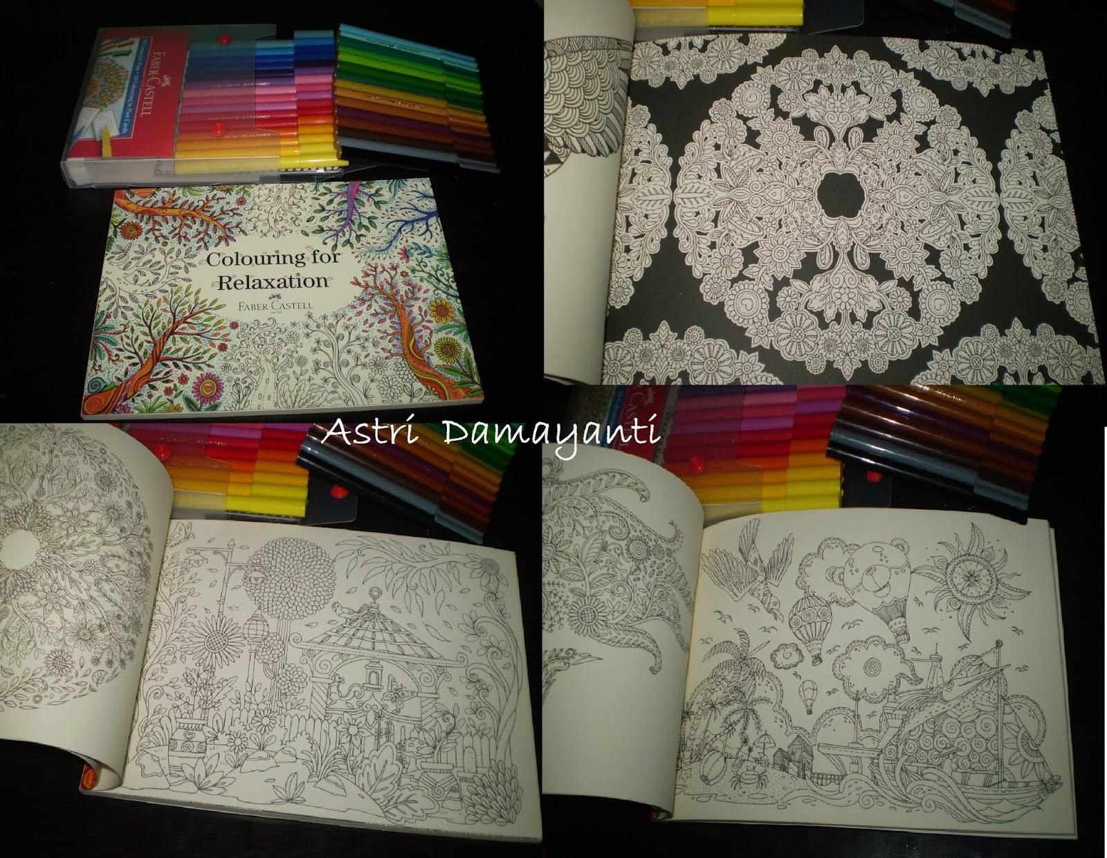 Orang Dewasa Mewarnai dengan Buku Colouring for Relaxation