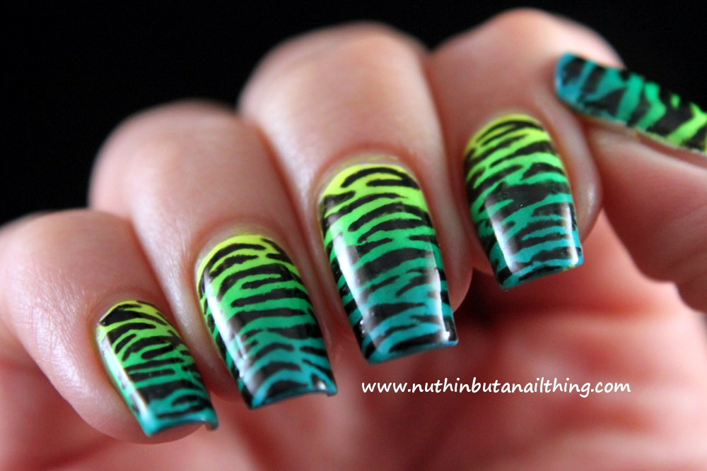 Nuthin But A Nail Thing Animal Print With Barry M Nail Art Pens