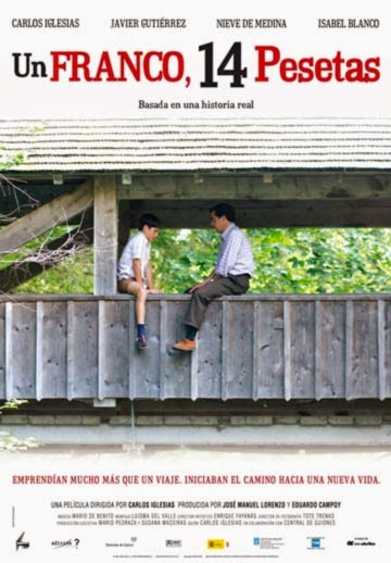 Un Franco Catorce Pesetas 1_Franco_14_Pesetas Portada película un puente padre e hijo sentados bosque de fondo