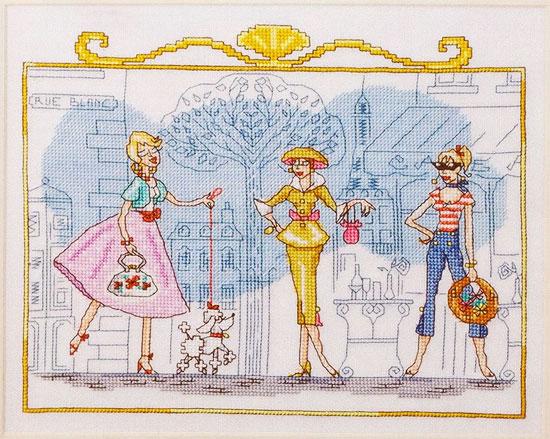 """Схема вышивки """"""""Дамы Парижа""""""""."""