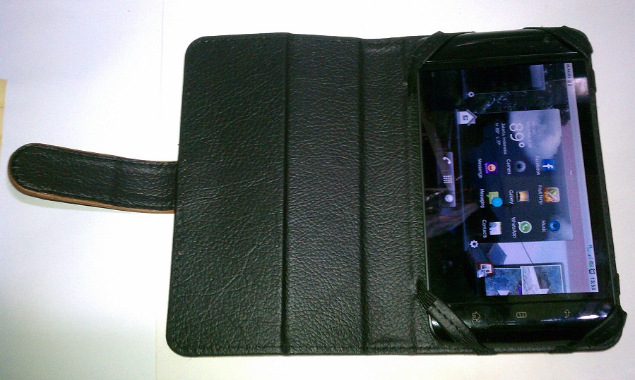 Jual Leather Case Dell Streak 5 inch with Camera port and Standing