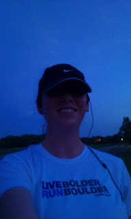 post run at dawn