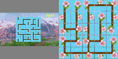 Sakura es un juego de rompecabezas de la lógica popular.